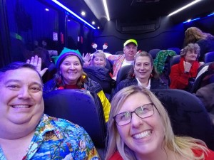 Parrothead Selfies on the Tacky Lights Bus - Copy